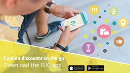 Complete overview over student discounts in your area with the ISIC App